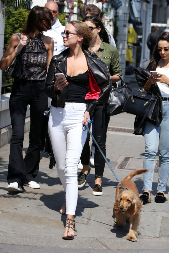 Kimberley Garner Out with Her Dog in London