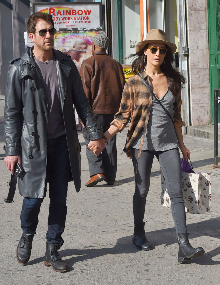 Maggie Q and Dylan McDermott Out in New York