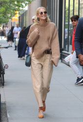 Poppy Delevingne - Wears Muted Earth Tones at BUILD Series in New York