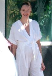 Pregnant Candice SwanepoelL Out in Espirito Santo