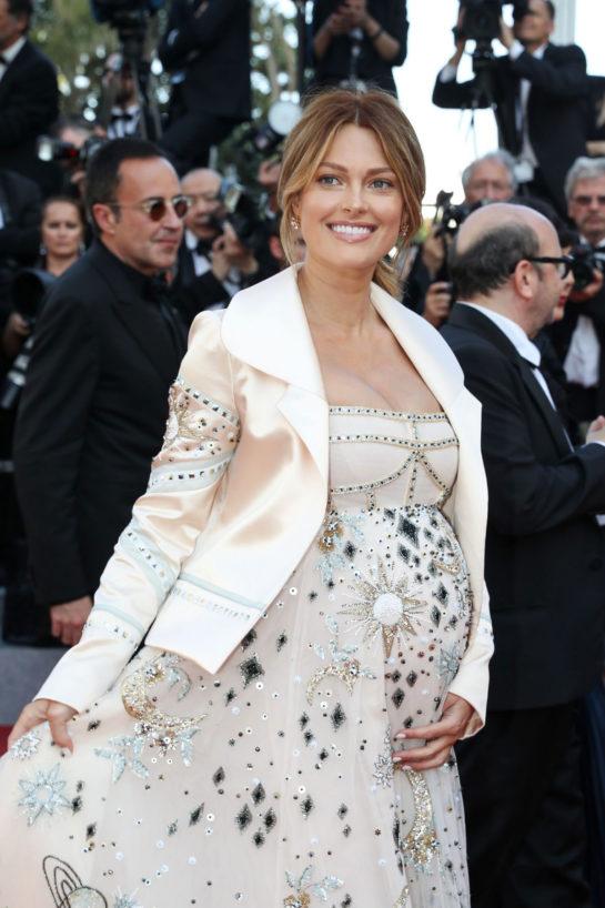 Pregnant Caroline Receveur at Cannes Film Festival 2018