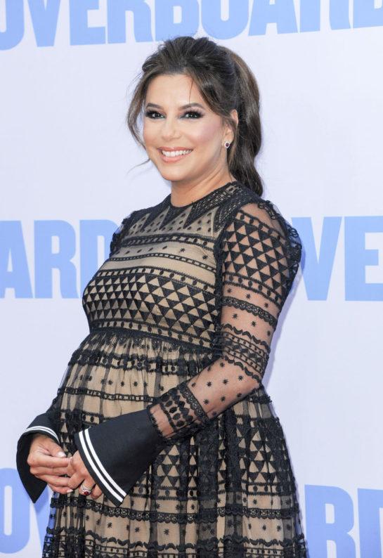 Pregnant Eva Longoria at Overboard Premiere in Los Angeles