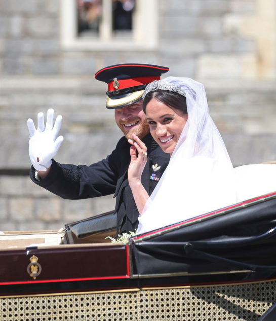 Prince Harry and Meghan Markle at Royal Wedding at Windsor Castle