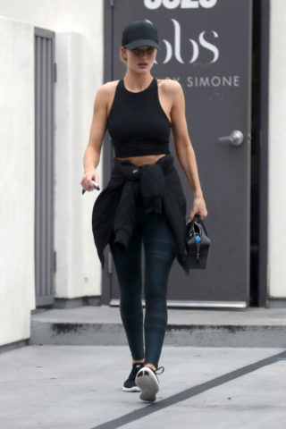 Rosie Huntington-Whiteley Leaves Body by Simone in West Hollywood