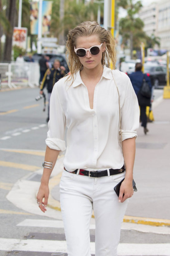Toni Garrn Out and About in Cannes
