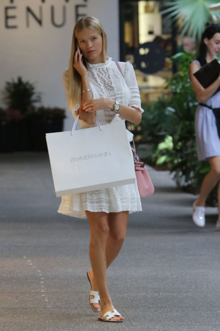 Vita Sidorkina Shopping in Bal Harbour in Miami