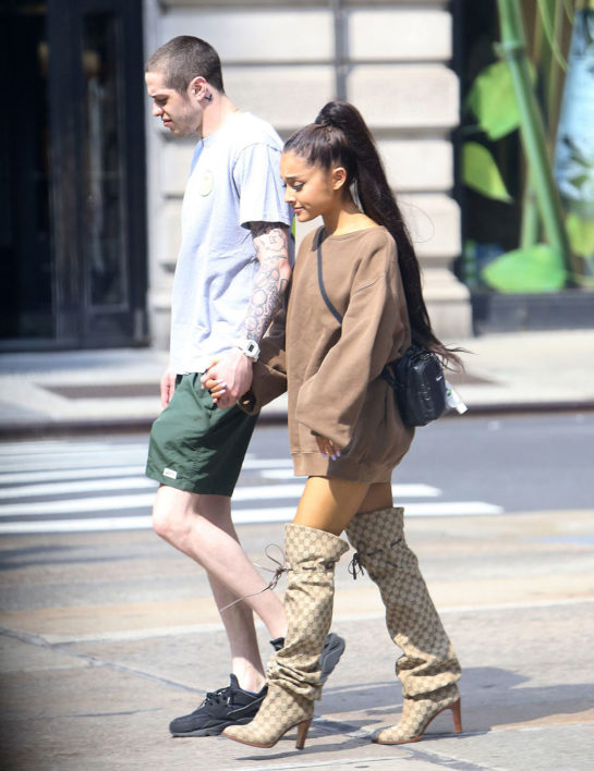 Ariana Grande With Her Boyfriend Pete Davidson in New York City