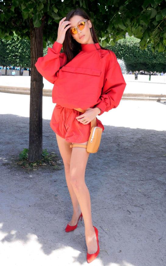 Bella Hadid at Louis Vuitton Show at Paris Fashion Week