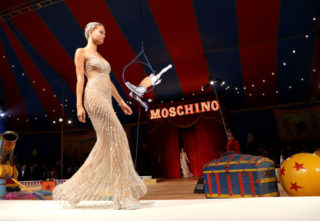 Cayley King at Moschino Fashion Show in LA