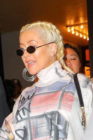 Christina Aguilera in New York City