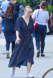 Dakota Fanning Out in SoHo in New York City