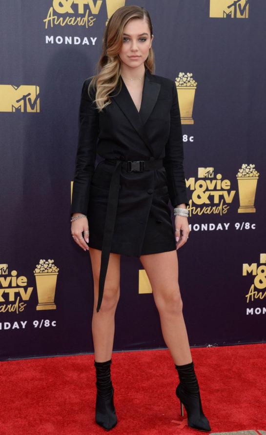Delilah Belle Hamlin at 2018 MTV Movie and TV Awards in Santa Monica