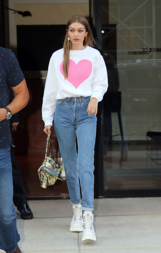 Gigi Hadid in a casual outfit New York City