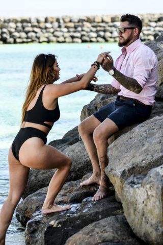 Jessica Hayes In a black bikini in Cape Verde