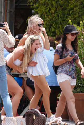Lottie Moss and Tina Stinnes Out in Barcelona