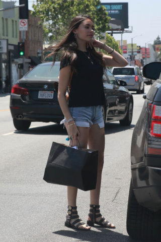 Madison Beer in Denim Shorts Out in Los Angeles