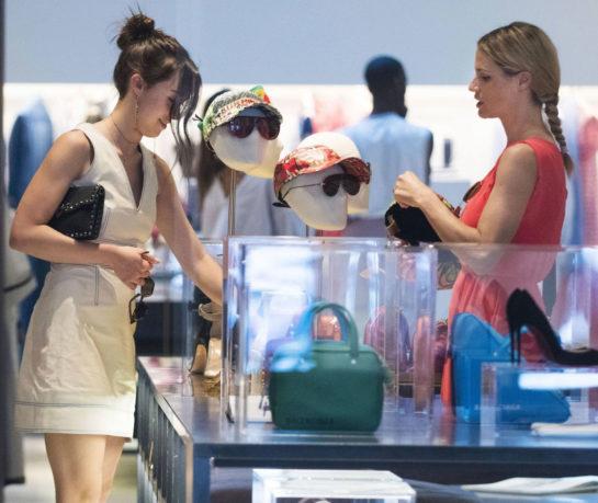 Michelle Hunziker and Aurora Ramazzotti shopping in Milan