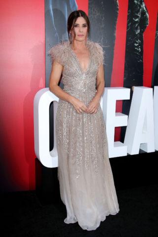 Sandra Bullock at Ocean's 8 Premiere in New York