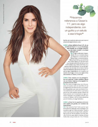 Sandra Bullock in Caras Magazine (Colombia June 2018)