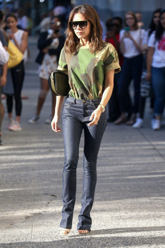 Victoria Beckham in a casual outfit New York