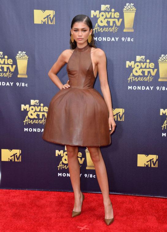 Zendaya at 2018 MTV Movie and TV Awards in Santa Monica