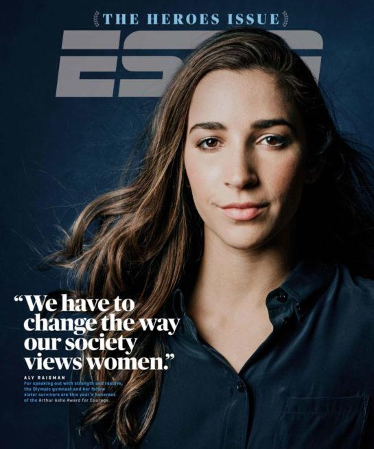 Aly Raisman in ESPN Magazine (July 2018)