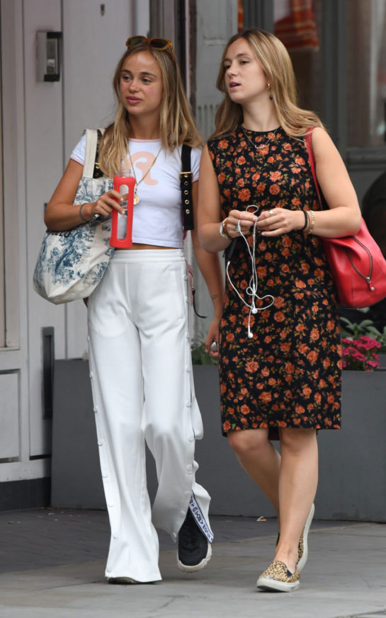 Amelia Windsor leaving Bodyism in Notting Hill