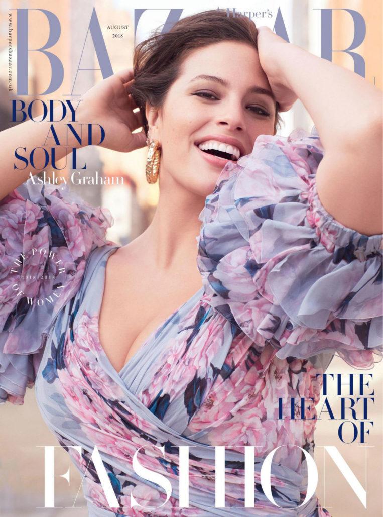 Ashley Graham in Harper's Bazaar Magazine (UK August 2018)