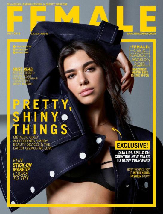 Dua Lipa in Female Magazine (July 2018)