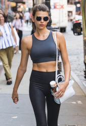 Georgia Fowler Leaves a Yoga Class in New York