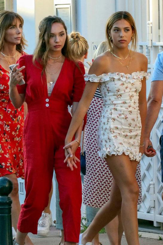 Jennifer Flavin, Sistine, Sophia and Scarlet Stallone Out in Saint Tropez