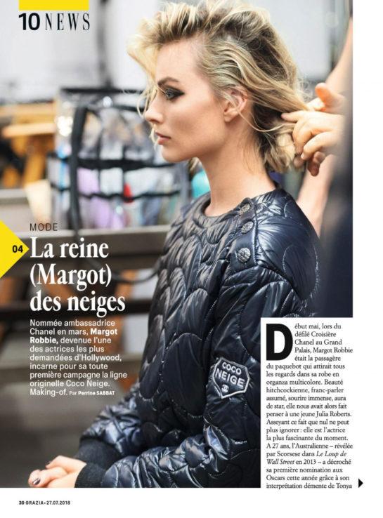 Margot Robbie in Grazia Magazine (France July 2018)