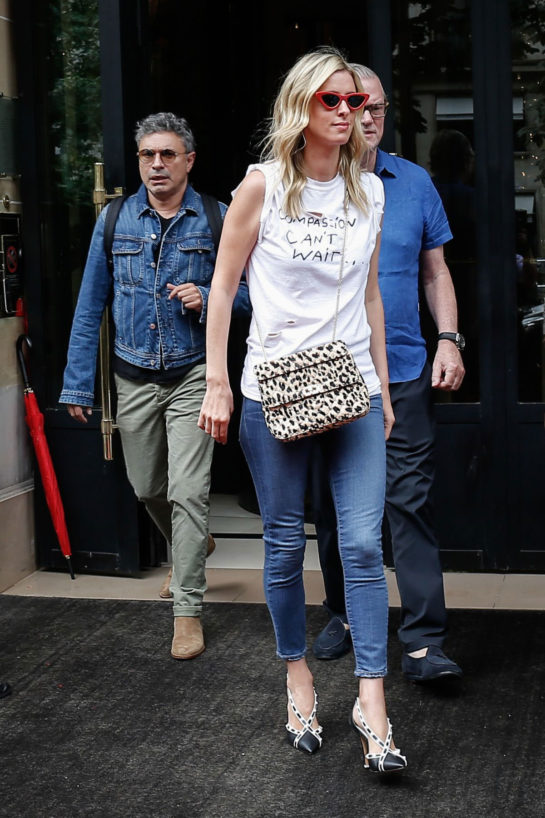 Nicky Hilton Leaves Her Hotel in Paris
