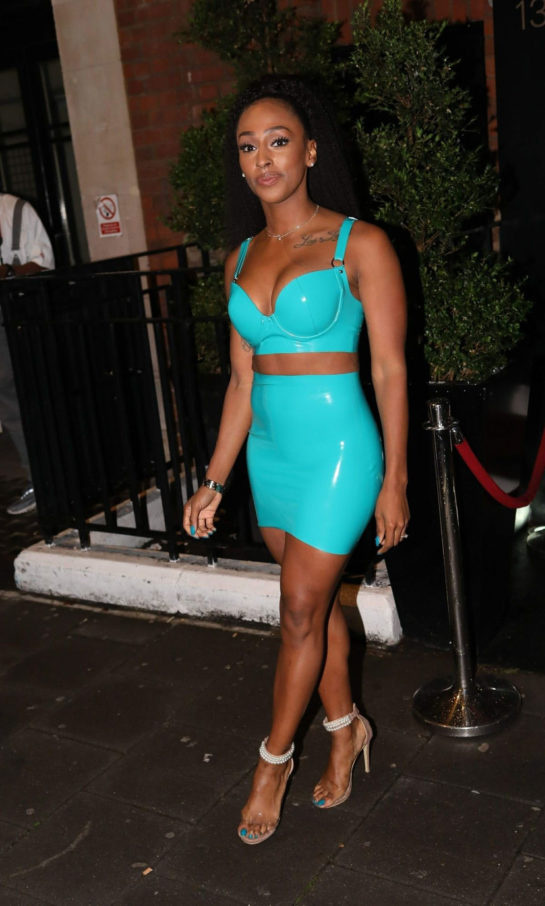 Alexandra Burke Celebrates Her 30th Birthday in London