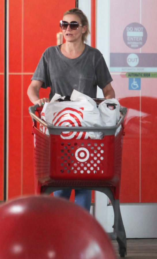 Cameron Diaz Shopping at Target in Los Angeles