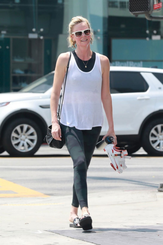 Charlize Theron at Soulcycle in West Hollywood