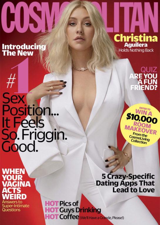 Christina Aguilera in Cosmopolitan Magazine (October 2018)