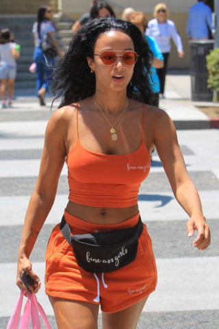Draya Michele Shopping in Beverly Hills