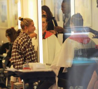 Hailey Baldwin and Justin Bieber visit Cutler hair salon in NYC