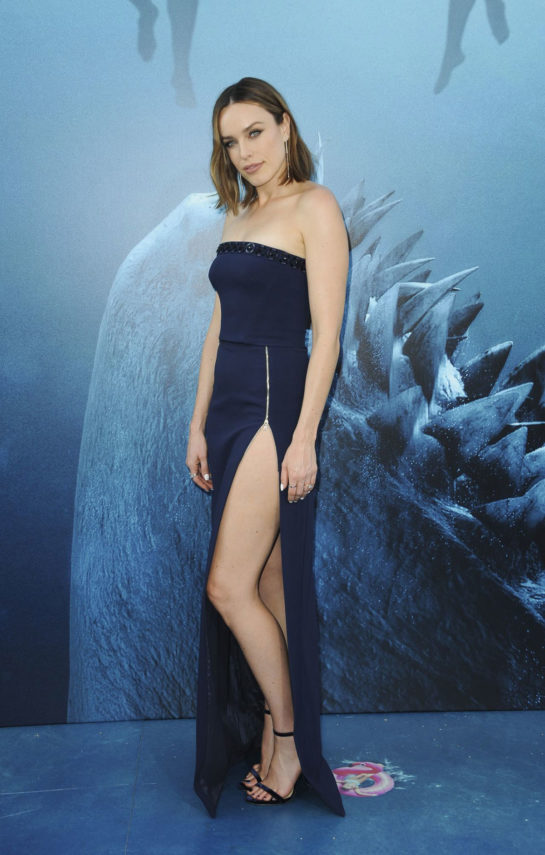 Jessica McNamee at The Meg Premiere in Hollywood