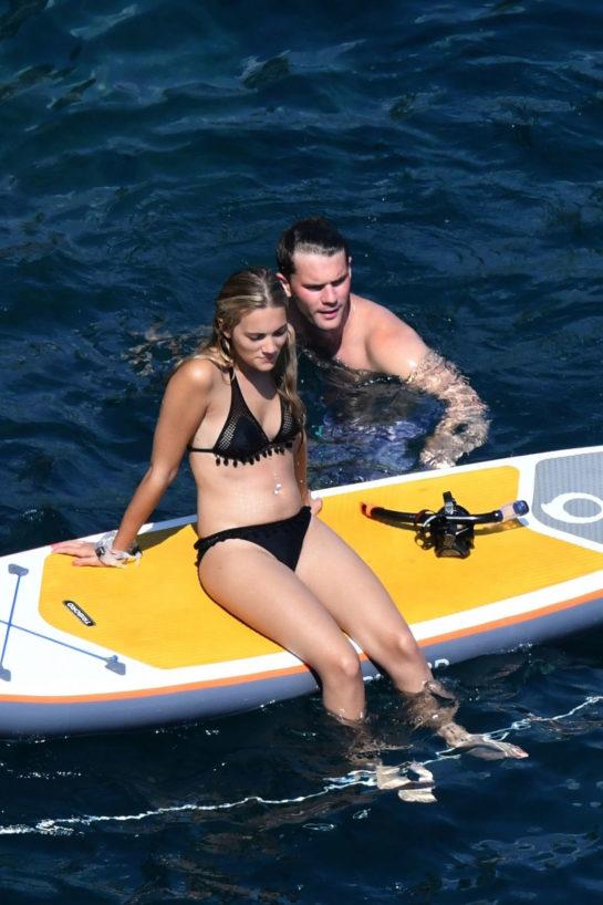 Jodie Spencer in Bikini on Vacation in Positano