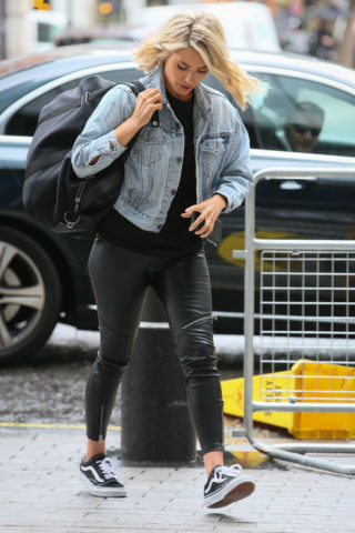 Mollie King Arrives at BBC Radio 1 in London