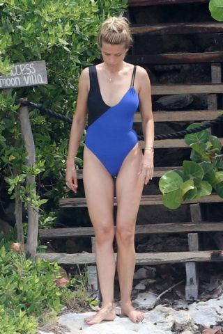 Petra Nemcova in Swimsuit at a Beach in Cancun