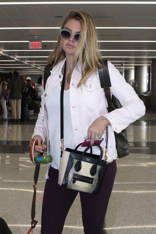 Pregnant Kate Upton at Los Angeles International Airport