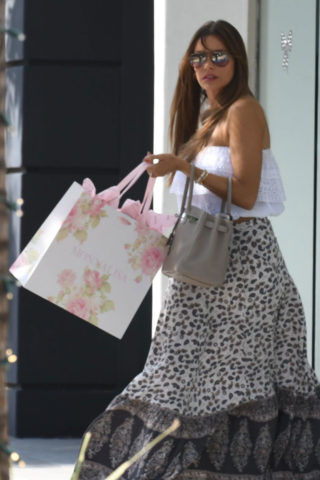Sofia Vergara Shopping at a Baby Clothing Store in Beverly Hills