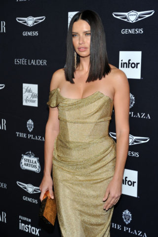 Adriana Lima at Harper's Bazaar ICONS Fashion Week event in New York