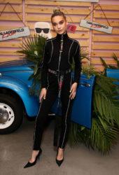Amanda Steele at Karl Lagerfeld x Revolve Launch in LA
