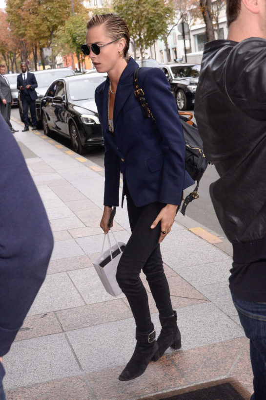 Cara Delevingne Arriving at her hotel in Paris