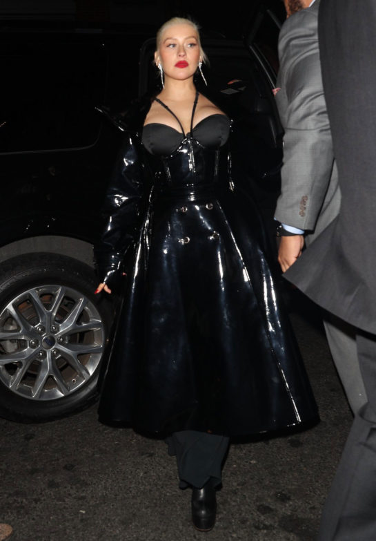 Christina Aguilera at 1 OAK Nightclub in New York