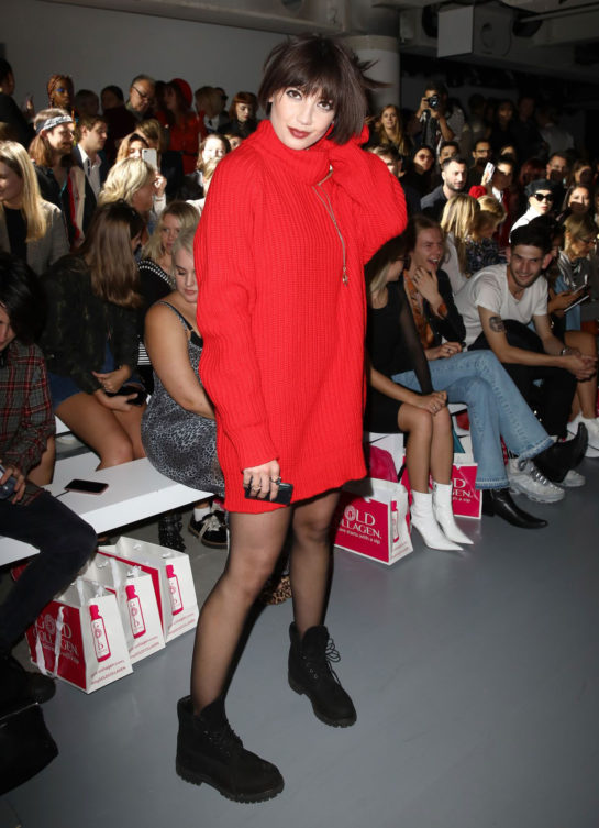 Daisy Lowe at Marta Jakubowski Show at London Fashion Week